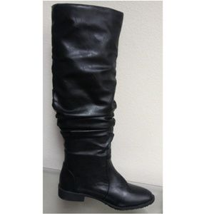 New Pull Up Slouchy Design Knee High Boots